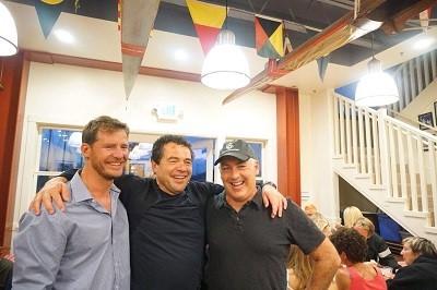 With Cameron Bellamy and Simon Dominguez