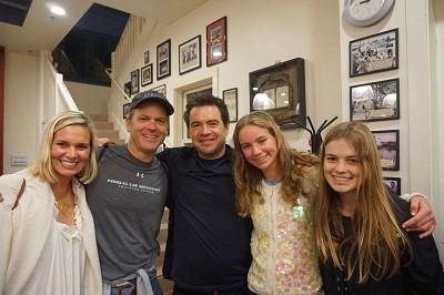 With Mauricio Prieto, Susan Moody, Carolina and Sofía Prieto
