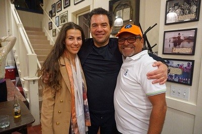 With Lilo Rost and Miguel Meléndez