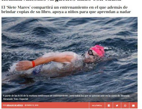 Realiza Antonio Argüelles nado con causa